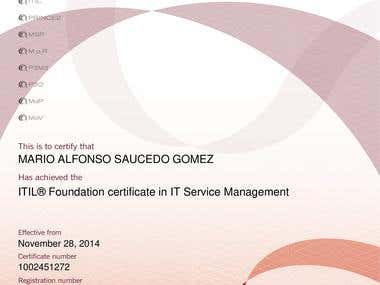 Certificate ITIL Service Management