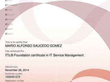 Certificate ITIL Service Management