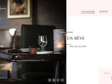 Landing Page sale of tableware