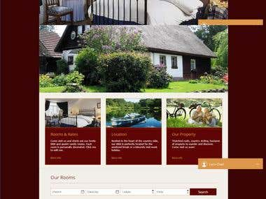 Booking web site (Mobile responsive)