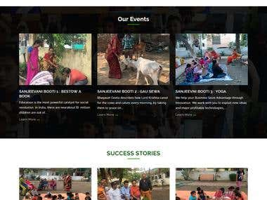 WEBSITE FOR A NGO