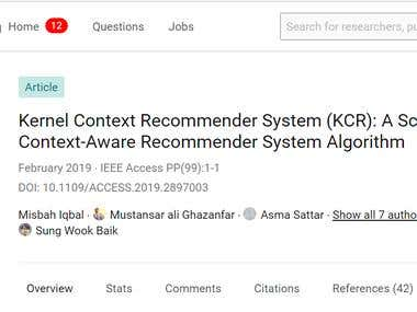 IEEE High IF Journal over Recommender Systems