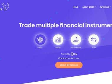 Orion Tradex Website Development