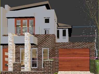 Architectural exterior visualization