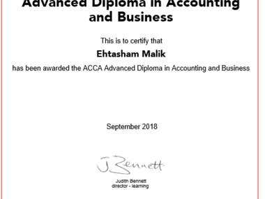 Advance Diploma in Accounting