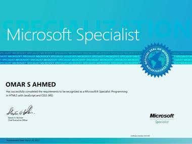 Microsoft Certified Specialist