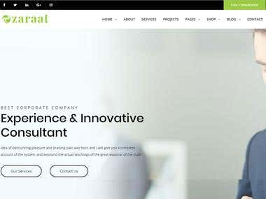 Zaraat - Business and Finance Corporate WordPress Theme
