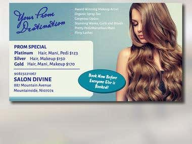 Salon Divine Flyer