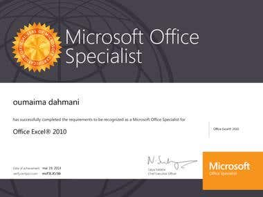 77-882: MOS: Microsoft Office Excel 2010