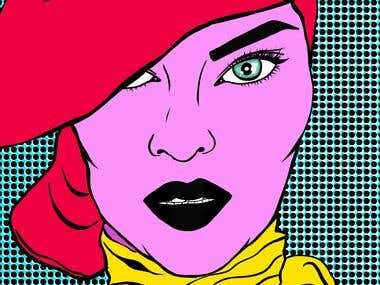 Pop Art Lady