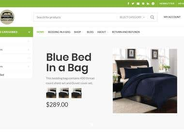 WordPress Sheets & Duvets WooCommerce Website