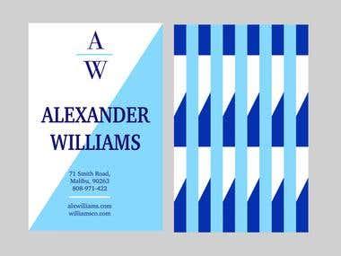 AW Business Card Design