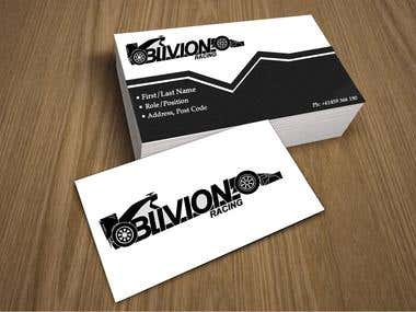Oblivion Racing Logo and Business Cards