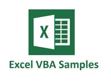 Excel VBA Samples