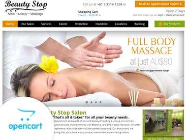 OpenCart - Salon and Beauty Products e-Commerce Website