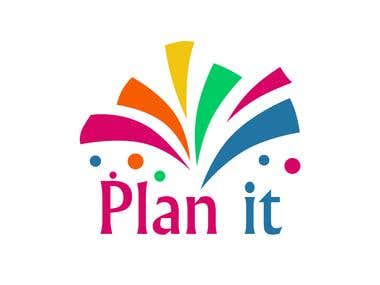 """Logo for """" Plan it """" for events organizing"""