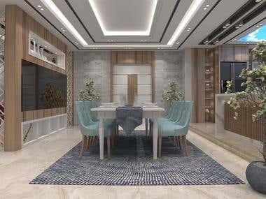Interior design for villa.
