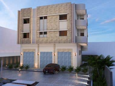 Architectural design, residential building