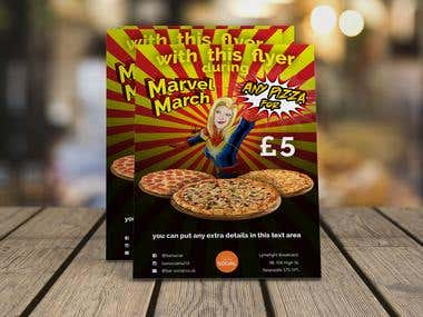 Flyer for Pizza Place