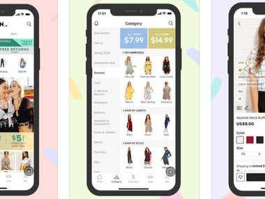 Shopping fashion app