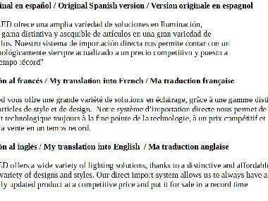 From Spanish to English and French