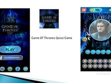 Game Of Thrones Quizz game