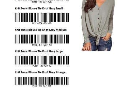 SKU Codes