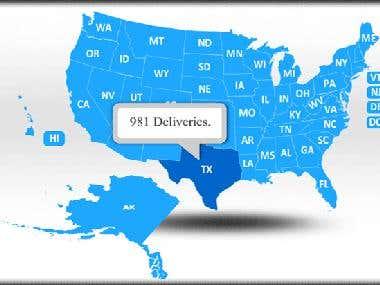 Flash US Map