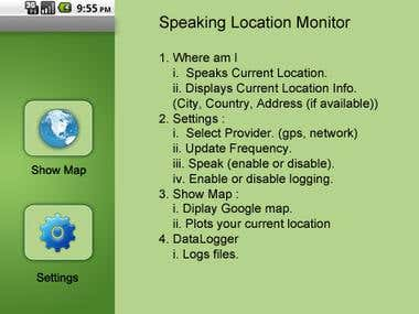 Android location monitor app