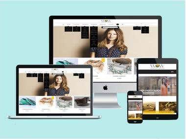 E-Commerce Website Development - Wardrobe on Web