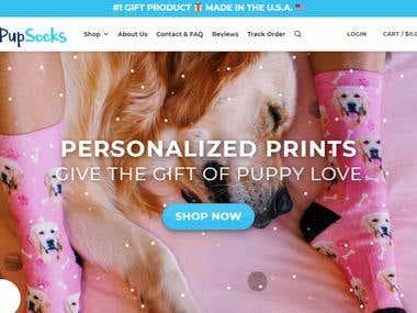 Ecommerce Website for Puppy Socks Lover