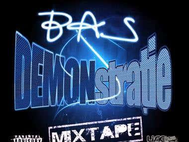 """Mixtape cover B.A.S - """"DEMONstratie"""""""