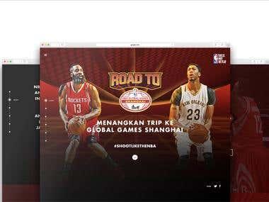 NBA Global Games Website