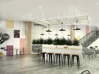Interior Coffee shop Design