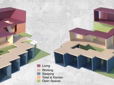 Conceptual design of a summer house in an Island