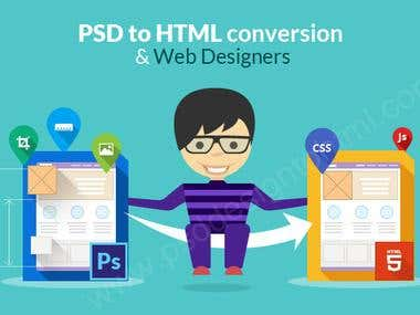 Web site design & PSD_2_HTML
