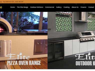 web design for Oven Company based in Australia