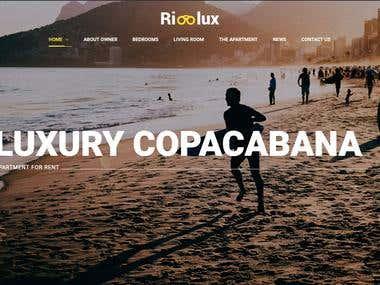 Property Rental Website in Rio de Janeiro Brazil