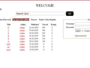 Quiz Site