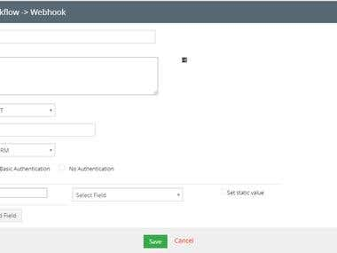 Webhooks For Workflows - Vtiger CRM community version