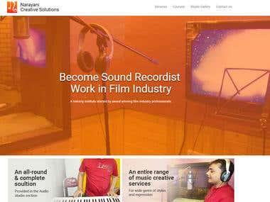 Narayani Studio Website