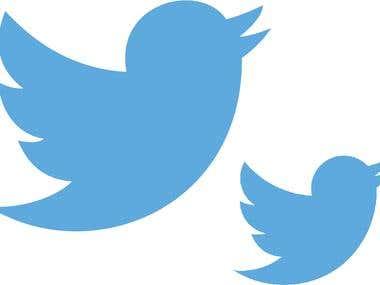 Twitter Logo by using Illustrator