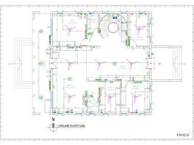 Electrical Design of Duplex house designed by me
