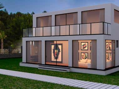 Design and Visualizing of a modern Vila in Egypt