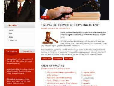 Law Firm Website in Drupal 7
