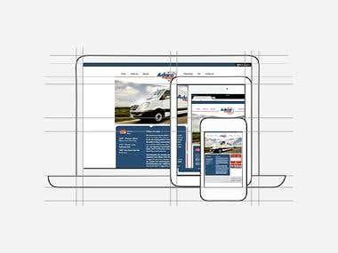 Company Profile Website for Adara Express