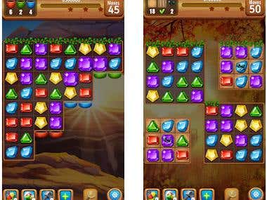 Jewels game with Unity