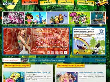 Super7 Web Portal and TV Streaming