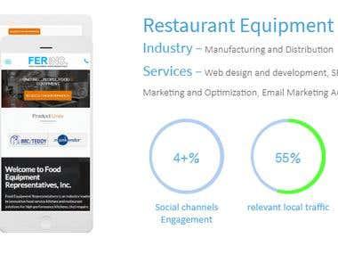 Restaurant Equipment (Increased Online branding reputation)
