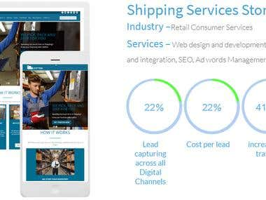 Shipping Services Store (Improvement in local ranking )